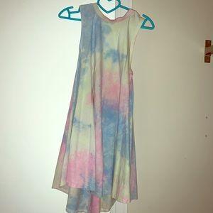 Never worn sleeveless tie-die dress